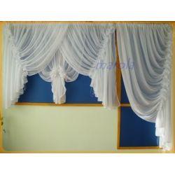 *5* Nowa firana balkonowa z żabotami Firany gotowe