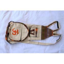 Plecak z płótna OM! - etno - made in Nepal