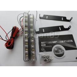LED DRL Oświetlenie do jazdy dziennej 8 LED w lampie