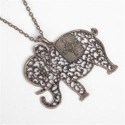 Wisiorek słoń stare złoto