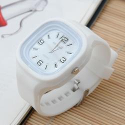 Zegarek gumowy świecący biały
