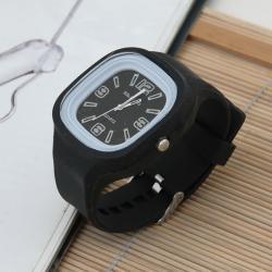Zegarek gumowy świecący czarny