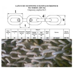 ŁAŃCUCH ROZRZUTNIKA WELGER,KEMPER 10x35 KL5 Części do maszyn rolniczych