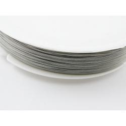 Linka jubilerska stalowa,srebrna 0,38 mm