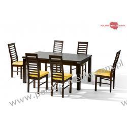 Stół NATAN + krzesła P-31 (6szt) - zestaw MM2