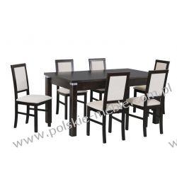 Stół MODENA 4 ALU + krzesła NILO 3 (6szt.) - zestaw DX97