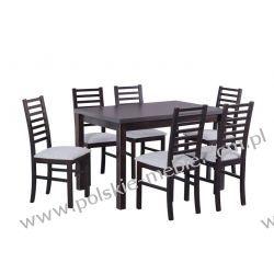 Stół MAX 5 + krzesła NILO 9 (6szt.) - zestaw DX39