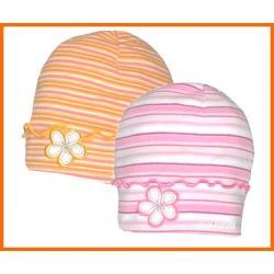 WIOSNA  bawełna  CZAPKA  czapki  TĘCZA  -  50-54