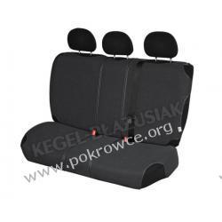 Pokrowce samochodowe na tylną kanapę SHIRT AIR BAG grafitowe Citroen C3