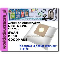 Worki do odkurzacza DIRT DEVIL Swan DD2206 2210 Bush Leo [DDMB01K]