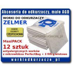 Worki do odkurzacza ZELMER 2000 Aquario Clarris Cobra 2000 Elf Meteor Odyssey Voyager Twix ZMB02K X 12K