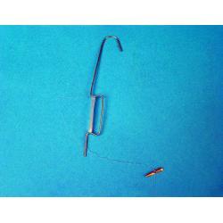 haczyk metalowy z linka nylon 125mm 100szt
