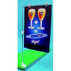 ramie metal poziom kat do wieszania reklam baner magnes 1kpl