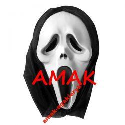 MASKA Z KAPTUREM - KRZYK SCREAM - HALLOWEEN Przebrania, kostiumy, maski