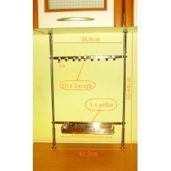 Regał półka organizer kuchenny nierdzewny