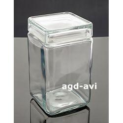 Słoik hermetyczny kwadrat 1,35L szklany