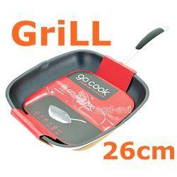 Patelnia grillowa 26cm Go Cook Grill indukcja Grille