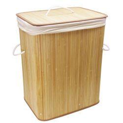 Promocja Kosz na bieliznę bambusowy naturalny Wyposażenie