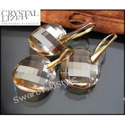 Złoty komplet SWAROVSKI  TWIST 135