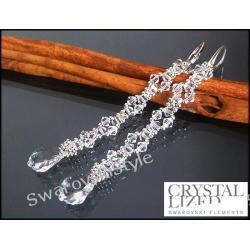 Kolczyki SWAROVSKI  ślubne długie 160