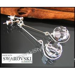 Kolczyki SWAROVSKI  round crystal 161