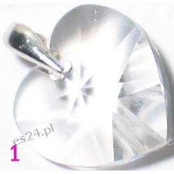 0.925 Srebro Kristał Swarovski  Serduszko 10 x 10 mm Wisorek  Długość 22 mm