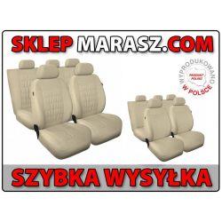 Pokrowce Beżowe TOYOTA Avensis Corolla Yaris SKÓRA