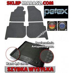 DYWANIKI GUMOWE VW Touran-03 PETEX+Bagażnik+Tunel