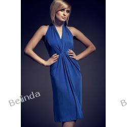 Figl 52 Sukienka bez pleców (niebieska)