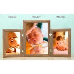 Galeria na 3 ramki - zdjęcia 10x15 i 15x21 cm wzór MZ4 Akcesoria fotograficzne