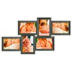 Galeria na 6 ramek ze zdjęciem 10 x 15 cm wzór 69 Akcesoria fotograficzne