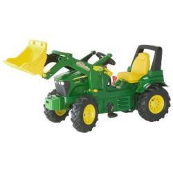 Rolly Toys Traktor John Deere z biegami na pompowanych kołach z łyżką Trac