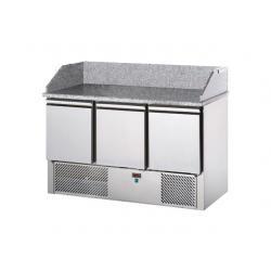 Stół chłodniczy sałatkowy 3-drzwiowy z płytą granitową