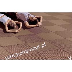 Kaseta tarasowa WERZALIT, kompozyt drewna, WPC, 440x440mm - kolor terracotta