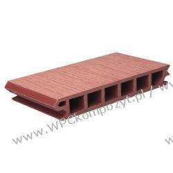Deska tarasowa, kompozyt drewna, WPC, 225x33mm - 2,4/3/4/5,8m kolor grafitowy (WPC008)