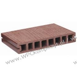 Deska tarasowa, kompozyt drewna, WPC, 150x25mm - 2,4/3/4/5,8m kolor grafitowy (WPC011)