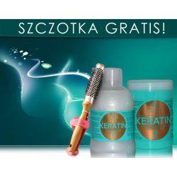 Kallos KERATIN Szampon + Maska + GRATIS SZCZOTKA