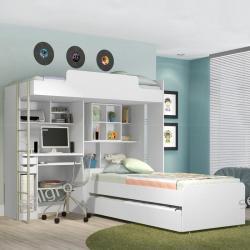 Łóżko Moduł biurowy Teen 3 osobowy