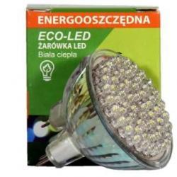 Żarówka 60 LED Eco-Led 12V MR16 60st ciepła 120lm 9673