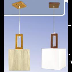 Żyrandol drewniany Kaja K-MD68432/1A