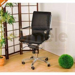 Fotel biurowy z prawdziwej skóry, fotel dla szefa....