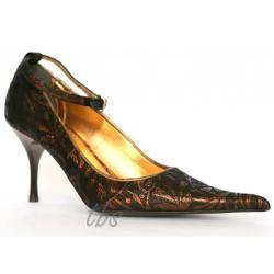 TooBeeShoes brązowo- złote włoskie czółenka 40