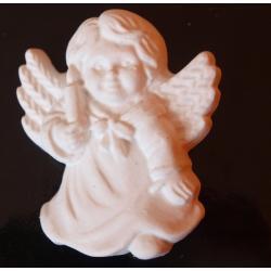 aniołek ze świeca biały 6