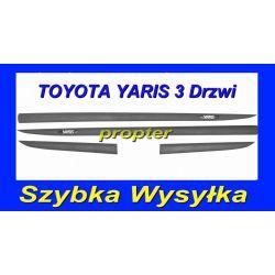 TOYOTA YARIS 3 DRZWI LISTWY BOCZNE SAMOPRZYLEPNE