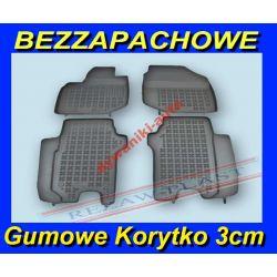 HONDA JAZZ II od 2008 DYWANIKI GUMOWE KORYTKO 3cm Gumowe