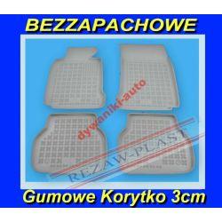 BMW 7 F01 SZARE DYWANIKI GUMOWE KORYTKA 3cm Gumowe
