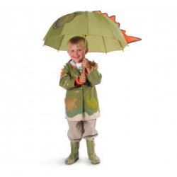 Kidorable zestaw deszczowy Dino (Parasolka, Pelerynka, Kalosze)