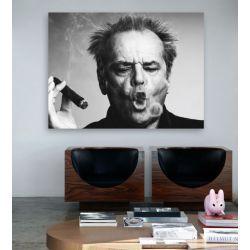 Nowoczesne obrazy czarno białe Jack Nicholson Antyki i Sztuka