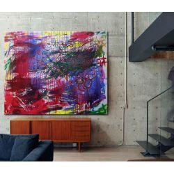 Duży obraz abstrakcyjny - jedyny egzemplarz - unikat Dom i Ogród