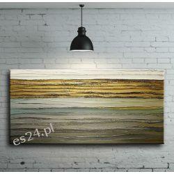 Obraz ręcznie malowany na płótnie galeryjnym POZIOME STRUKTURY 60x120cm Akryl